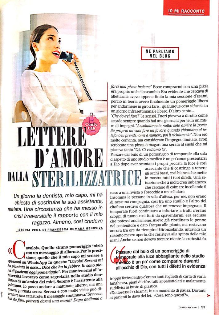 racconto Francesca Romana Genoviva confidenze